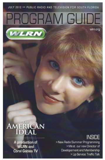 Ana Litvinenko - WLRN cover - August 2012